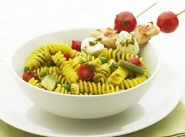 Pasta Salad with spiedini